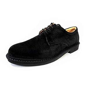 [リナシャンテバレンチノ] 本革スウェード プレーントウ ビジネスシューズ 黒 4E(EEEE) 27.5cm、28cm、29cm、30cm[大きいサイズ(ビッグサイズ) 革靴・紳士靴] (measurement_30_point_0_centimeters)