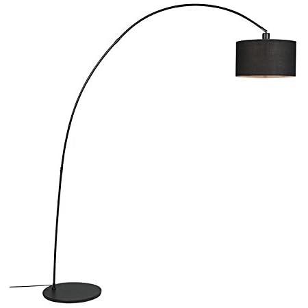 QAZQA vinossa - Lampe arquée Moderne - 1 lumière - H 1740 mm - Noir - Moderne - Éclairage intérieur - Salon