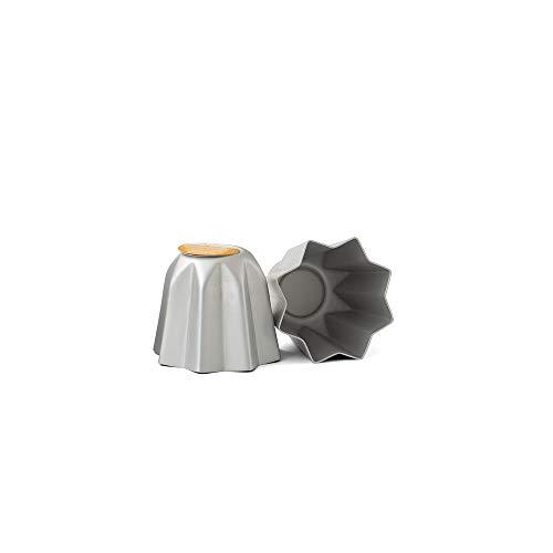 Decora 0062683 Stampo mini pandorino in alluminio anodizzato, Argento, Ø 7,5 X 6,5 cm, 1 pezzo