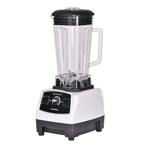 搅拌机榨汁机, 专业搅拌机混合器榨汁机大功率水果食品处理器冰沙机搅拌机切碎机搅拌机2200W,白