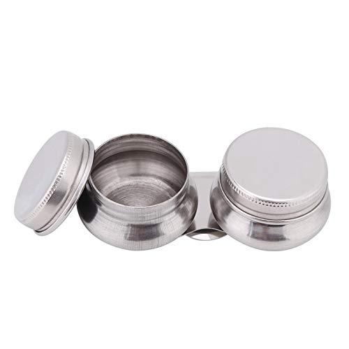 1pcs Paleta de acero inoxidable Vaso Cacerola doble con tapa Art Oil Pot Contenedor de pintura al óleo de doble paleta para pintura al óleo acrílica