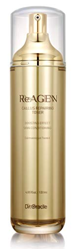 Callus Repairing Toner, Gold Anti Aging Face Toner, Hyaluronic Acid Skin Care Products, Dermatologist Tested, (4.05 o.z) Reagen by Dr. Oracle