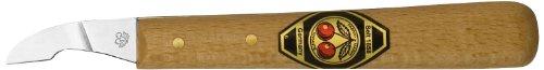 Preisvergleich Produktbild Kirschen 3351000 Kerbschnitzmesser mit kurzer,  schräger Schneide