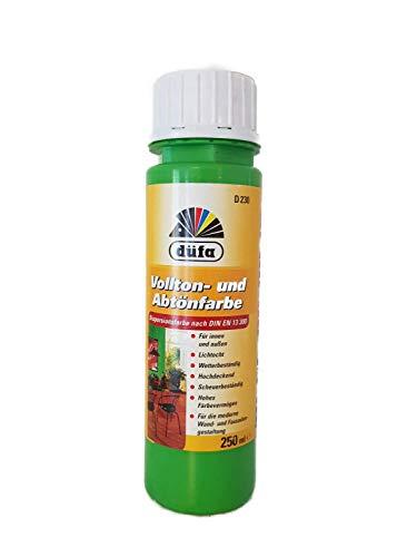 6x250ml Düfa Vollton- und Abtönfarbe Innen/Außen 1,5 Liter Farbwahl, Farbe:Frühlingsgrün 135