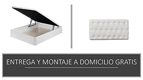 Santino Pack canapé Madera Zeus wengué 150x190 y cabecero Polipiel