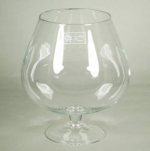 INNA-Glas Lot 2 x Verre à Cognac XXL Roger sur Pied, Conique - Rond, Transparent, 25cm, Ø13cm - Ø20cm - Bougeoir en Verre - Photophore Transparent