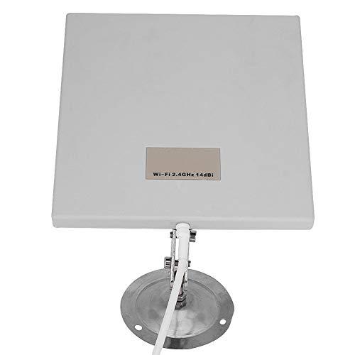 Cocosity Antena Plana, Extensor WiFi Duradero, 2.4Ghz de Largo Alcance Resistente a la Intemperie para Exteriores