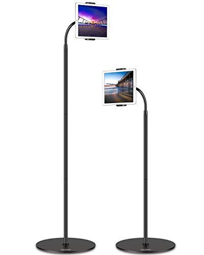 Tryone Tablet Bodenständer, Tablet Ständer - Flexibel Einstellbar Schwanenhals Bodenständer für ipad/Handy/Switch/Samsung Galaxy Tabs/Kindle Fire HD und Weitere 4,7-13 Zoll Geräte