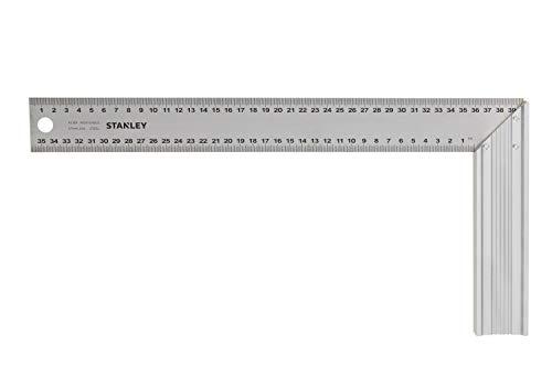 Stanley 1-45-687 Escuadra de carpintero, 200 x 400 mm, GRIS, 400mm