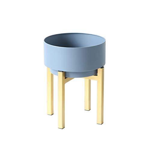 Ali@ Moderne Minimaliste Vert Fleur Stand En Fer Forgé Intérieur Salon Balcon Fleur Pot Étagère Amovible Portable Creative - Type De Sol (Couleur : Bleu, taille : 59 * 24cm)