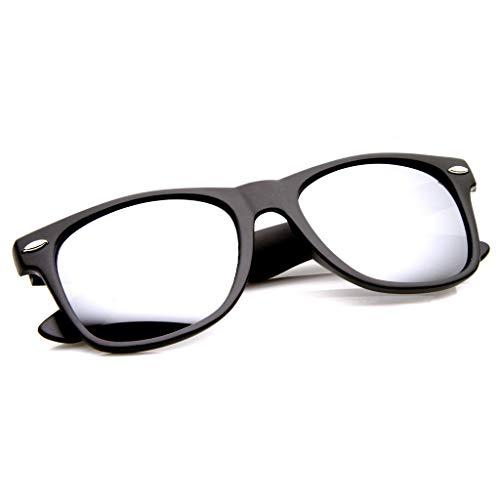 KISS Gafas de sol mod. BLUES BROTHERS - clásico y espejado CULT MOVIE hombre mujer NERD VINTAGE - NEGRO/Plata