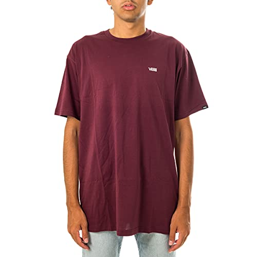 Vans Left Chest Logo Tee T-Shirt, Rosso (Port Royale/WHI K1o), Medium Uomo