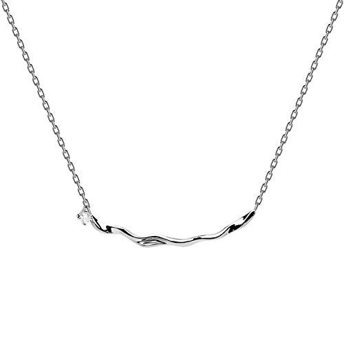 PD Paola 925 Sterling Silveren Tokio Haru Necklace CO02-081-U (Length: 40.00-45.00 cm)