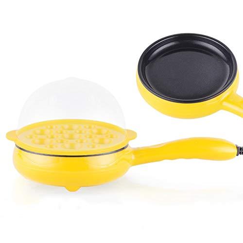 NYKK Eierkocher testsieger Braten Eier Pfännchen Antihaft-Pfanne Elektro Bratpfanne Kleinen Haushalt Frühstück Artifact (Color : Yellow)