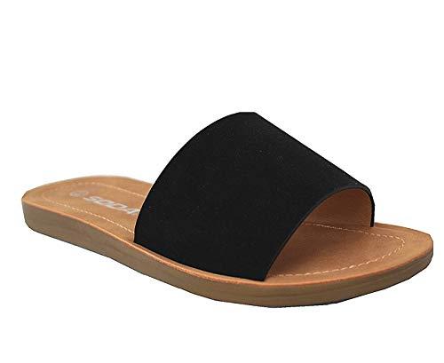 Womens JDLunacy Basic Casual Walking Comfort Cross Strappy Sandals (7 M US, Mustard JD)