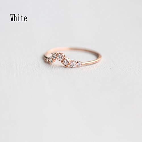 IWINO Klassieke mode Damesring Kristal Delicate geometrische juweelcluster Booggift