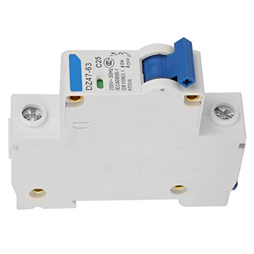 Disyuntor miniatura 1P 230V Alta sensibilidad Alta confiabilidad Resistente a la oxidación...