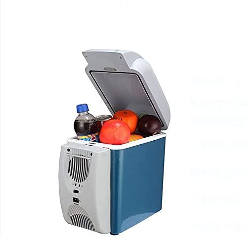 LXNQG Refrigerador de Coches, Mini Nevera Pequeño Dormitorio Portátil Refrigerador Refrigerador 7.5L Portátil Retro Home, Oficina, Coche o Boat-B 30x20x27.8cm (12x8x11 Pulgadas) Jianyou