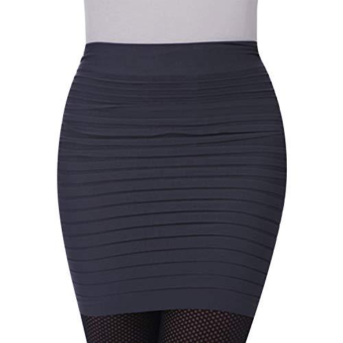 LAEMILIA Damen Nierenwärmer Rock Unterrock Skinny Stretch Einffarbig Elegant Minirock Bandeau T-Shirtverlängerung Multifunktion Einheitgröße