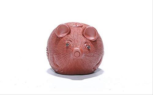 XIAOJIU Tee Haustier Figure Original Mine Lila Sand Tee Haustier Handgemachte Mokka Tee Set Stücke Großhandel Nafu Tee Spielen, Um Kleine Ornamente Einteiliges Haar Zu Spielen