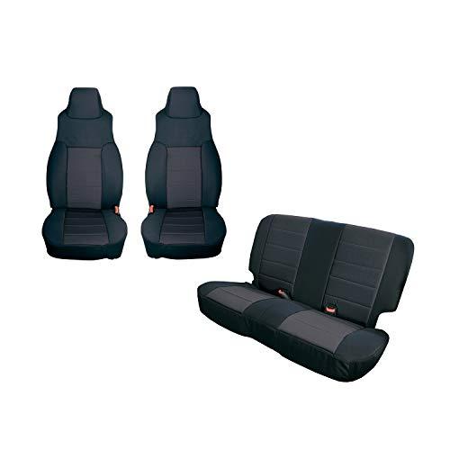 Rugged Ridge 13293.01 Black Seat Cover Kit, 2 Pack (2003-2006 Jeep Wrangler TJ)