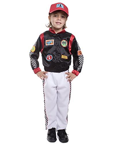 Dress Up America 507-T2 Rennfahrer Kostüm Kinder-Rennwagenfahrer, Größe 1-2 Jahre (Taille: 61-66, Höhe: 84-91 cm)