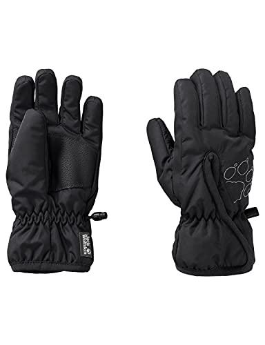 Jack Wolfskin Unisex Kinder EASY ENTRY GLOVE K Fingerhandschuhe, black, 152