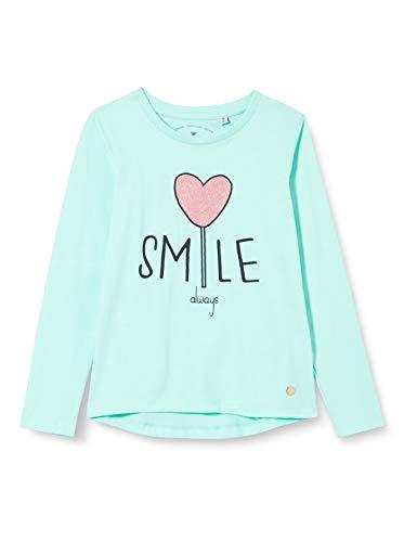 TOM TAILOR Baby-Mädchen Langarmshirt T-Shirt, Beach Glass Green, 116/122