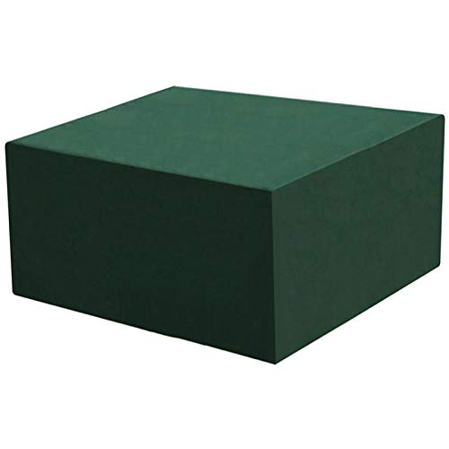 WUZMING-Garden Furniture Covers, Cube Patio Table And Chair Covers, Heavy Duty Outdoor Waterproof Anti-UV, Adjustable Hem (Color : Green, Size : 110x110x63cm)