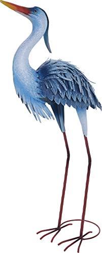 mucplants Deko-Figur Reiher aus Metall ca. 79cm Metallvögel Gartenfigur Metall Figur