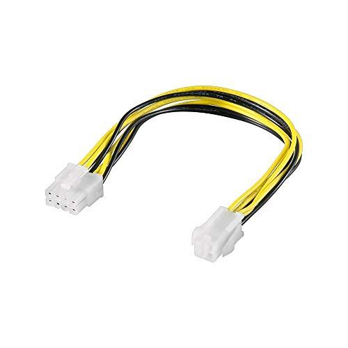 Goobay 51358 Cavo Elettrico/Adattatore PC ATX12 P4, da 4 Pin a 8 Pin, 0.2 m Lunghezza del Cavo