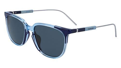 Calvin Klein CK19700S Acetate - Gafas de sol de cristal azul/azul marino, unisex, para adulto, multicolor, estándar