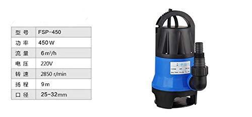 220V Kunststoff chemische Pumpe pumpt Säure Säurekorrosion des industriellen Zentrifugalpumpe marinen selbstansaugende Pumpe pumpt Seewasser (Size : 450W)