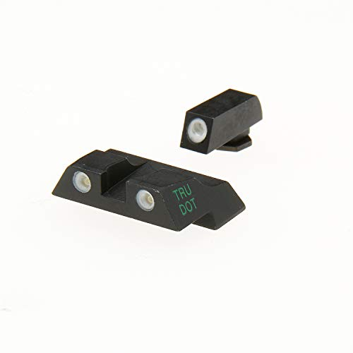 Meprolight Glock Tru-Dot Night Sight for G26 & G27. Yellow rear sight and green front sight. Fixed set