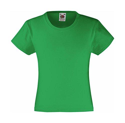 Mädchen T-Shirt Girls Kinder Shirt - Shirtarena Bündel 104,Maigrün