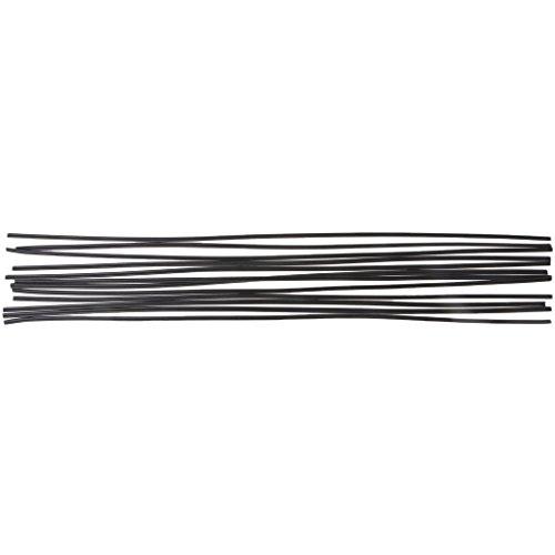 MISHITI 12 Uds Varilla de Soldadura de plástico Negro PP Piso Parachoques de automóvil Soldadura de plástico 50 cm
