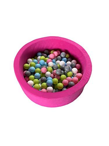 rund weiches Bällebad und Plastikbälle für Kinder Ball Pool Kugelbad Bällchenpool (Bällebad mit 400 Bällen, Rosa)