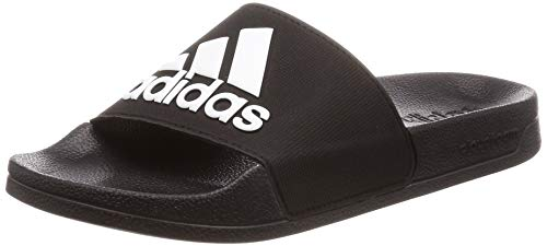 adidas Adilette Shower, Scarpe da Spiaggia e Piscina Uomo, Nero (Core Black/Ftwr White/Core Black), 38 EU