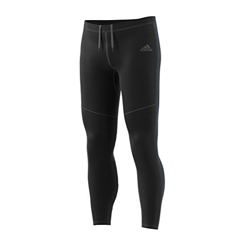 adidas Men's Running Response Long Tights, Black/Blue Night, X-Large