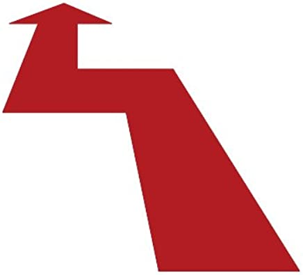 ピクトグラム 矢印 B ステッカーデカール (赤色 )