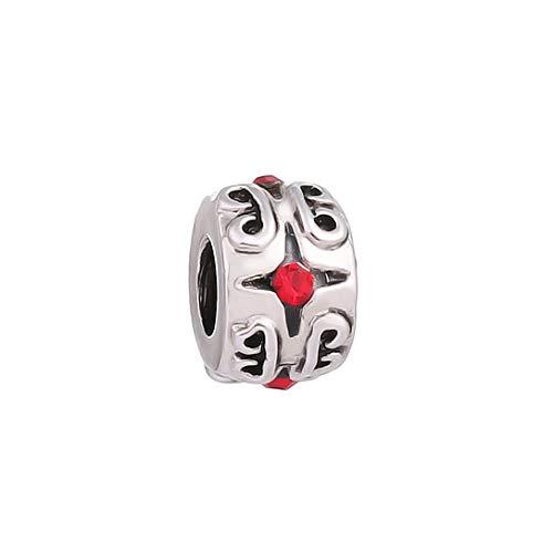 AKKi jewelry - Colgante de Perlas de Acero Inoxidable para Pulsera de