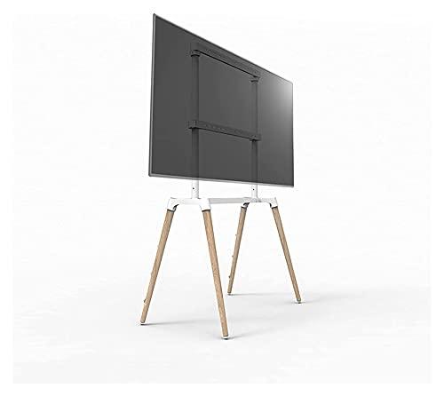 TabloKanvas Soporte de TV móvil con 4 pies de madera para televisores de 55 a 75 pulgadas LED LCD OLED planos y curvados (tamaño A: A)
