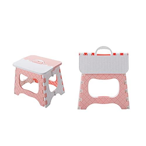 Taburete Plegable Compact de Color de de Altura,Pink,L