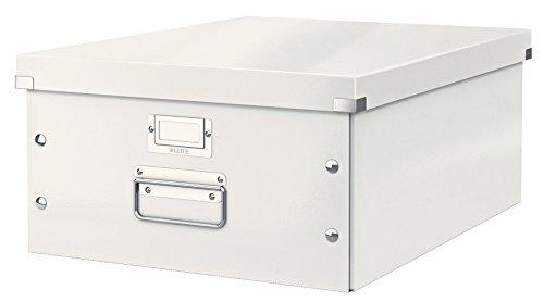 LEITZ Transportbox DIN A3 Click & Store/6045-00-01, weiß,350x188x450mm,1.400g/qm