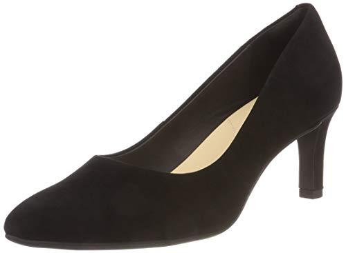 Clarks Calla Rose, Zapatos de Tacón Mujer, Negro (Black Suede), 40 EU
