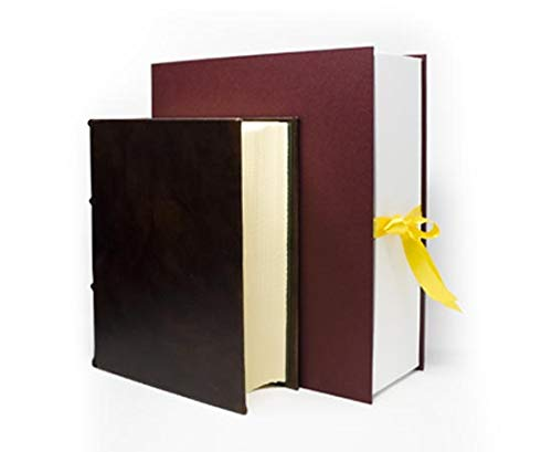 Epica Extra Thick Leather Journal, Writing Notebook, 8'x10', Cream Colored, Lined/Unlined, 600 Pages, Suitable for All Ink Types, Handmade, Diary to Write for Men, Women, Traveling, Gift, with Pouch