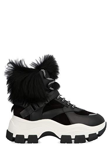 Luxury Fashion | Prada Dames 1T611LFZF753L13F0967 Zwart Leer Hi Top Sneakers | Herfst-winter 19