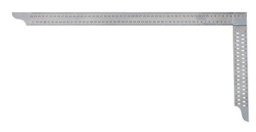 hedue Z072 ZP 700 mm mit mm-Skala Typ A Zimmermannswinkel Niro mit Anreißlöcher Schienenlänge 700 x 300 mm
