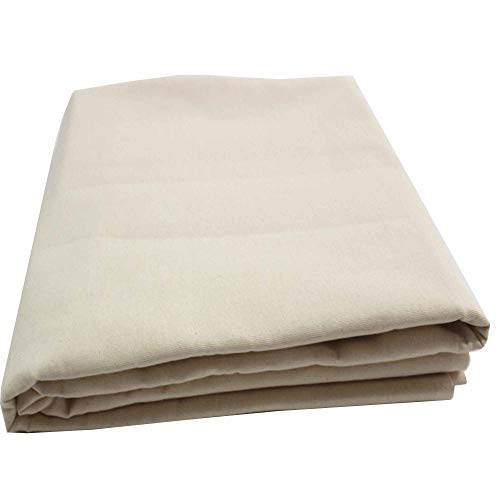 Mybecca 100% Cotton Muslin Fabric/Textile Unbleached, Draping Fabric Wide: 63 inch Natural 2-Yards (5.25 Feet x 6 Feet)(63' x 72') Medium Weight
