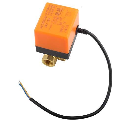 EVTSCAN Válvula de bola motorizada G3/4', DC 24 V DN20 2 vías 1.6MPa Válvula de bola de actuador motorizado de latón para aire acondicionado, agua, aceite, válvula de bola de aire de 25 mm